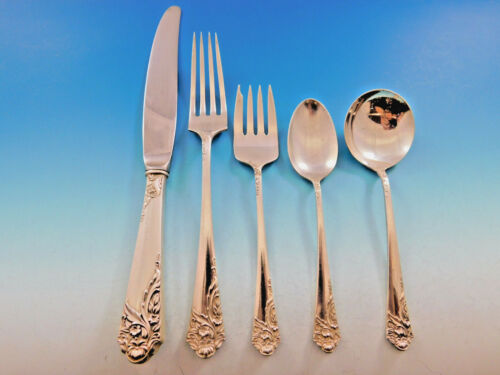Ecstacy By Amston Sterling Silver Flatware Set For 6 Service 32 Pcs Dinner Size