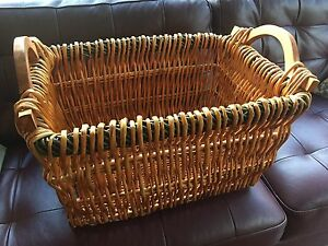 Large wooden basket/storage bin