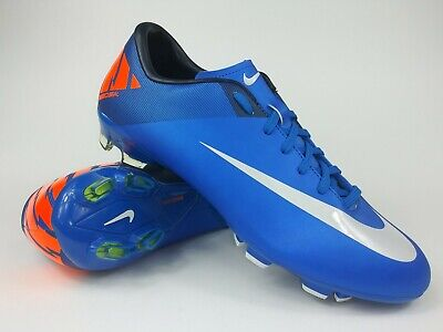 wholesale dealer c211c 6017c Nike Men Rare Mercurial Victory ll FG 442005408 Blue Orange Cleats Boots  Size 10