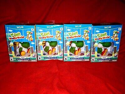 🥚Yoshi's Woolly World Green Yarn Yoshi Amiibo Nintendo Wii U New SEALED box!