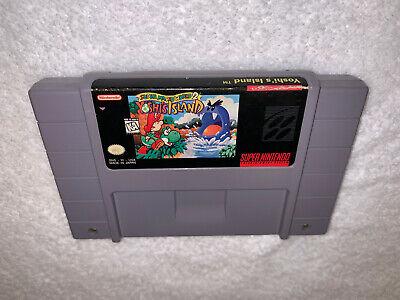 Super Mario World 2 Yoshi's Island (Super Nintendo, 1995) Authentic SNES Game Ex segunda mano  Embacar hacia Argentina