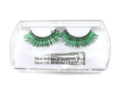 Icing Green Metallic False Eye Lashes Girl's / Women's One Size New