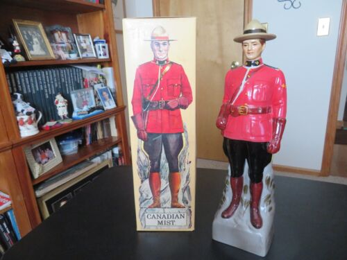 Canadian Mist Mounty Whiskey Decanter, series A, 1969