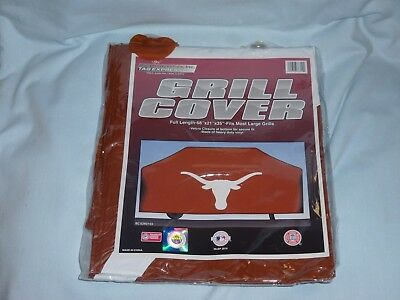 VINYL GRILL COVER Texas Longhorns  68x21x35 FITS MOST LARGE GRILLS  by Rico  NIP