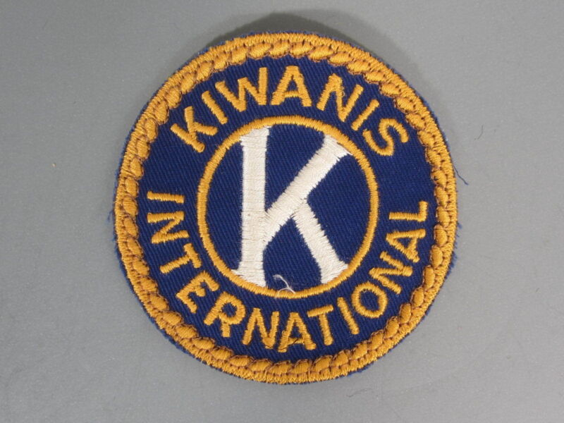 Kiwanis International Patch / New Old Stock of Closed Embroidery Co. / FREE Ship