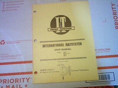 234 234 Hydro 244 254 International Harvester Tractor It Shop Service Manual