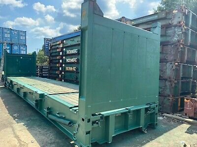40 Hc Flat Rack Container Collapsible Flush Folding Cargo Worthy Bridge