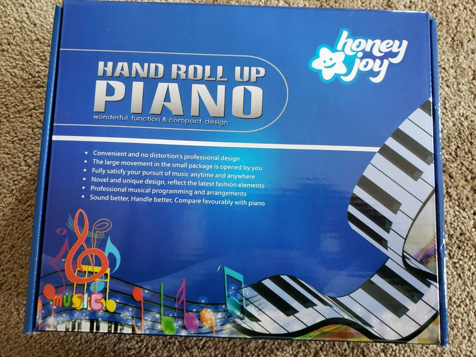 Honey Joy Hand Roll Up PIANO 61 Key Electronic Roll Up Silic