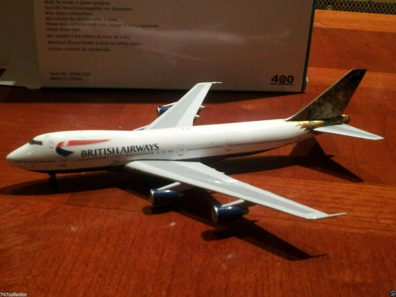 BigBird400 British Airways B 747-236B 1:400 BB4-2004-48 Paithani India G-BDXO