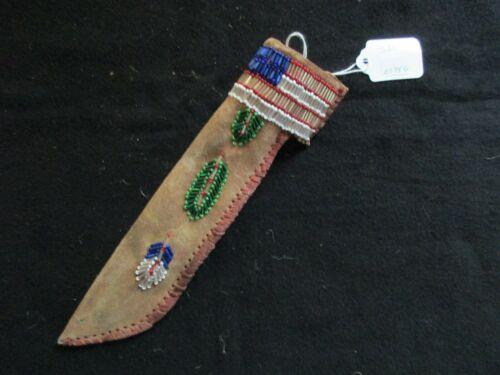 NATIVE AMERICAN BEADED LEATHER KNIFE SHEATH, FROM SOUTH DAKOTA,    SD-0821*05756