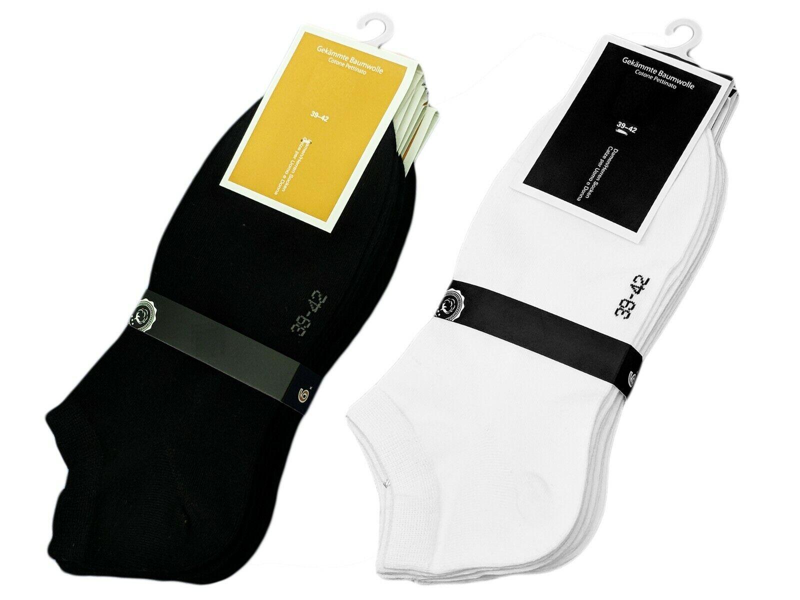 10 Paar Herren Socken Business Sportsocken Freizeit Sneaker  Gr 39-42//43-46