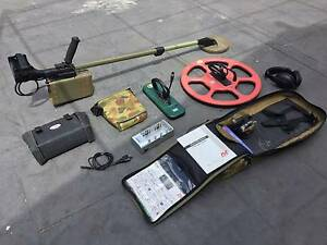 Minelab F1A4 metal detector with basic upgrades and spare coils Tullamarine Hume Area Preview