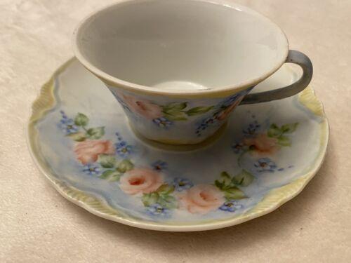 Vintage Cup And Sauce E.O Tress 19 Floral Tea  - $16.00