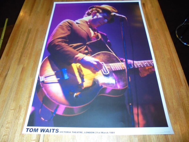 Tom Waits Poster 23 X 33 Out of Print RARE