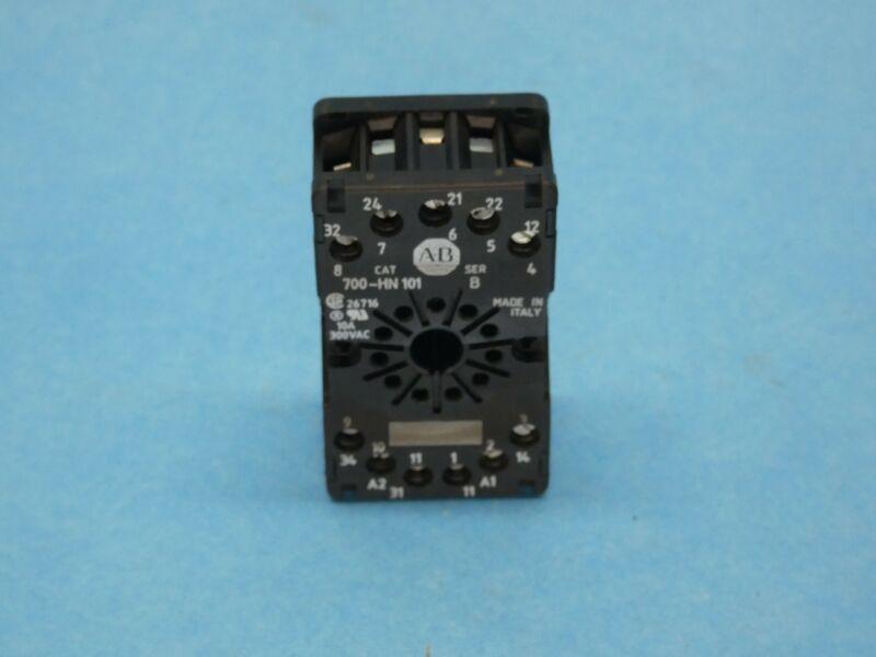 Allen Bradley 700-HN101 Series B Relay Socket 11 Pin Octal Used
