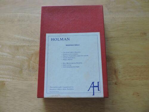 Holman Masonic Bible--FREE MASON LIBERY LODGE NO. 31 AF & AM