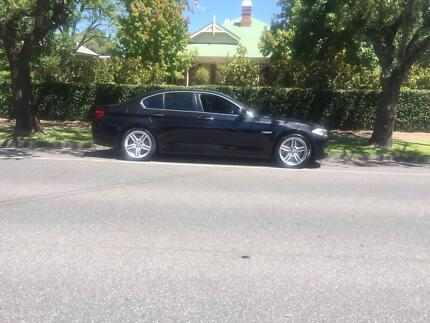 BMW 535i black sedan 2011