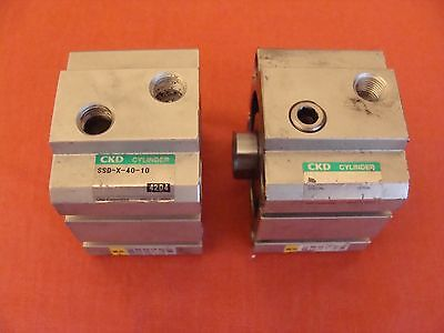 Ckd Double Acting Air Cylinder Ssd-x-40-10 Lot Of 2