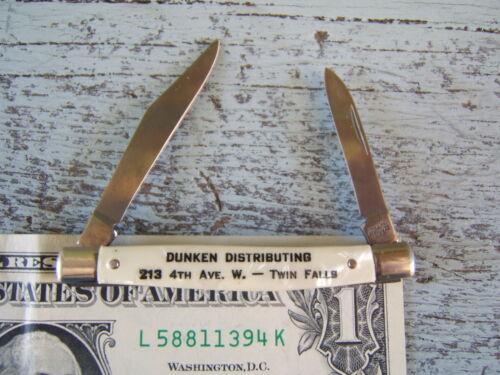 Vintage Dunken Distributing Twin Falls Idaho Advertising Pocket Knife