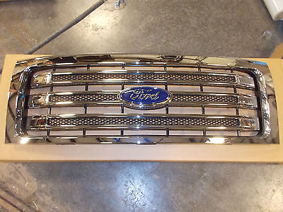 FORD F150 LARIAT CHROME GRILLE 2014 NEW TAKE OUT FITS 2009 - 2014 OEM