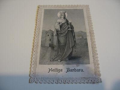 Heiligenbild Gebetbild Andachtsbild Spitzenbild Heilige Barbara