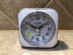 Sterling & Noble Square Alarm Clock Analog Quartz Movement with Light