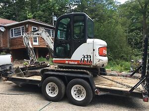 Bobcat 331 Mini Excavator for rent (can be purchased)
