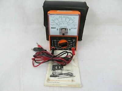 Vintage Chevrolet Pittsburgh Rca Tech Vom Wv-547a With Case Leads
