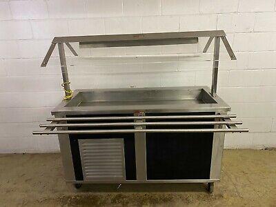 Hussman- Seco Portable Cold Salad Bar Buffet Sneeze Guards 115 Volt Tested