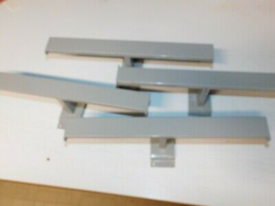 Lot Of Four - 14 Steel T Bar Display For Slatwall And Wire Grid Slat Wall