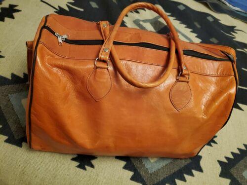 Leather Mens Bag Duffel Bag Travel - $75.00