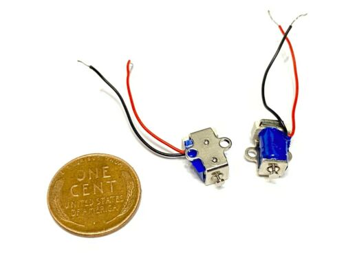2 Pieces Linear tiny Miniature Solenoid Suction 2x Pull Micro Pneumatic push c21