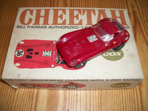 Rare ~ Cox Bill Thomas Authorized 1:24 Scale Cheetah W/Box  Slot Car     1/6