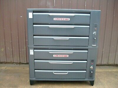 2 Blodgett 981 Double Stacked Pizza Ovens With New Stones