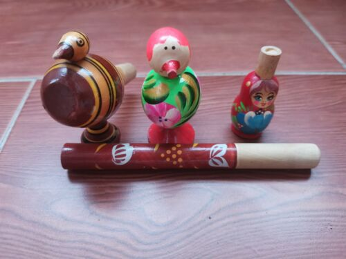 whistle ussr tree handmade work 5 pieces
