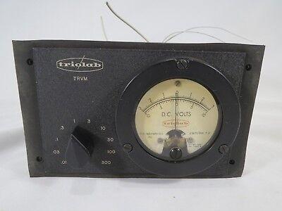 Vintage Triolab Vacuum Tube Voltmeter Very Rare Trvm D.c. Volts 312-1