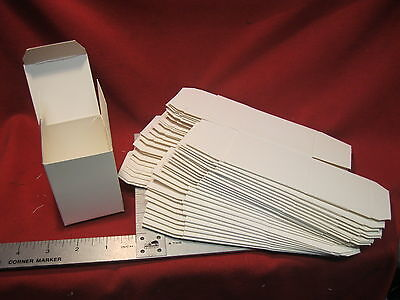 Folding Gift Box 2 14 X 2 14 X 3 White Pack Of 25