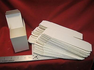 "Folding Gift Box 2 1/4"" x 2 1/4"" x 3"" White Pack of 25"