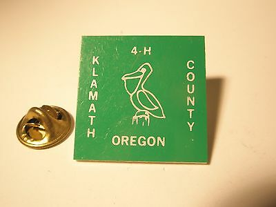 4H Klamath County Oregon Vintage Lapel Pin  gift