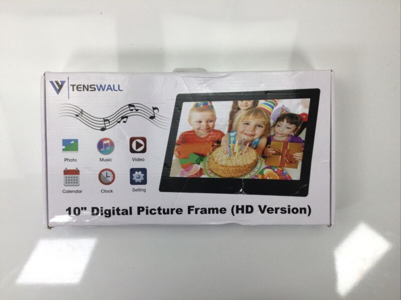 """Tenswall, 10""""  Digital Picture Photo Frame (HD Version)"""