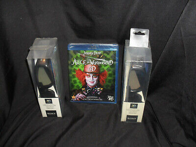 Sony 3D - 2 Pair Glasses and Blu-ray of Alice in Wonderland