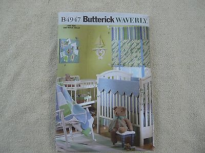 Butterick Waverly 4947 Infants room nursery decor crib bumpers sewing pattern