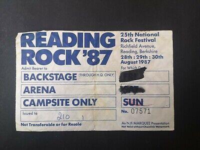 Usado, Vintage READING ROCK Festival 1987 Backstage/Arena Pass ft ALICE COOPER segunda mano  Embacar hacia Mexico