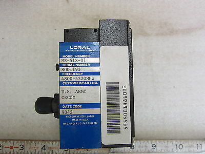 Loral Ms-51x-01 Microwave Oscillator New