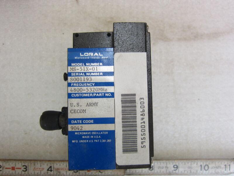 Loral MS-51X-01 Microwave Oscillator, New