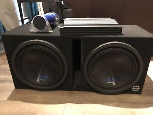 Alpine Subwoofers and Amp