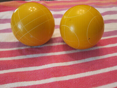"""Bocce Bocci  Wood 3 1//2"""" Inch dia Replacement Ball Single YELLOW"""