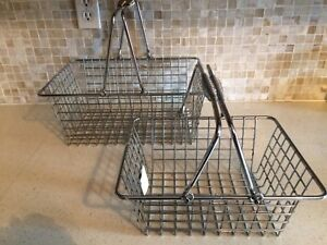 2 wire metal shopping baskets