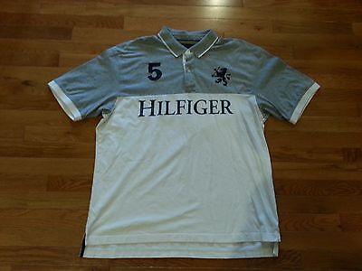 VTG TOMMY HILFIGER POLO SHIRT SIZE XXL #5 SPELLOUT GRIFFIN RUGBY CRICKET SAILING Griffin Rugby