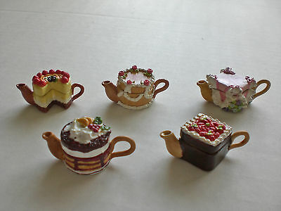 Tiny decorative dollhouse miniature tea pot~CAKE & BAKERY TEAPOT~CUTE